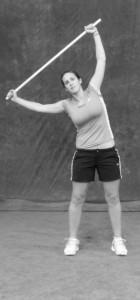 bastone servizio tennis flessione